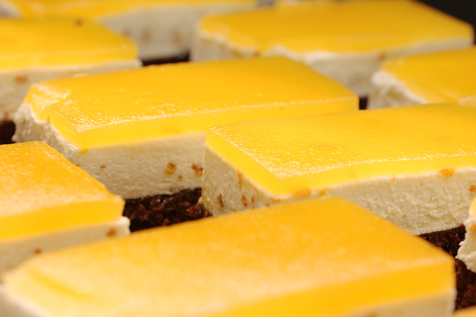 Zitronenkuchen in Nahaufnahme
